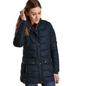 Barbour Goldfinch Blue Quilted  Womens Jac…